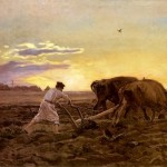 Józef Chełmoński, Orka, 1896, olej na płótnie, źródło: https://chelmonski.info.pl