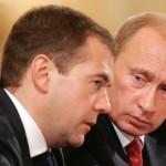 Dmitrij Miedwiediew i Władimir Putin, źródło: Wikipedia